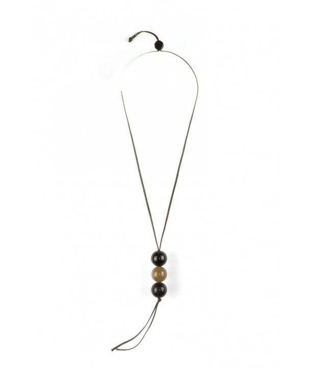 3 marble pendant in blond and black horn