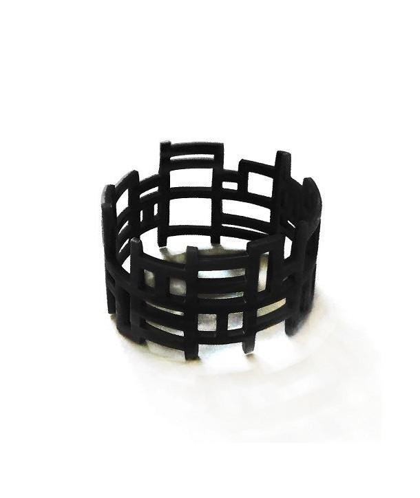 """""""Chan song"""" bracelet in black horn"""