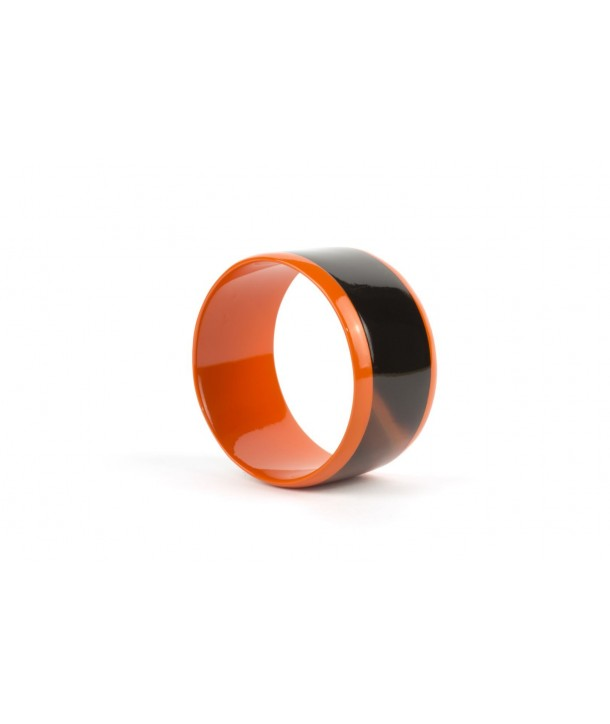 Broad orange inner and edges lacquered bracelet