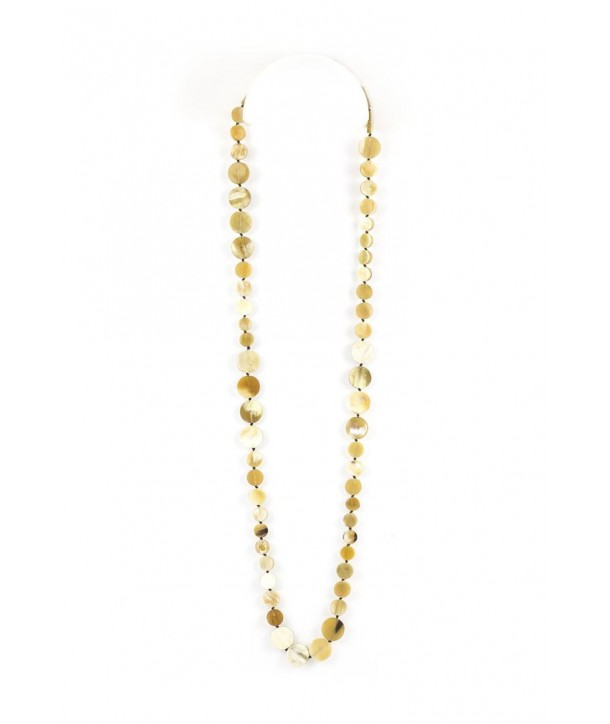 Pastilles very long necklace in blond horn