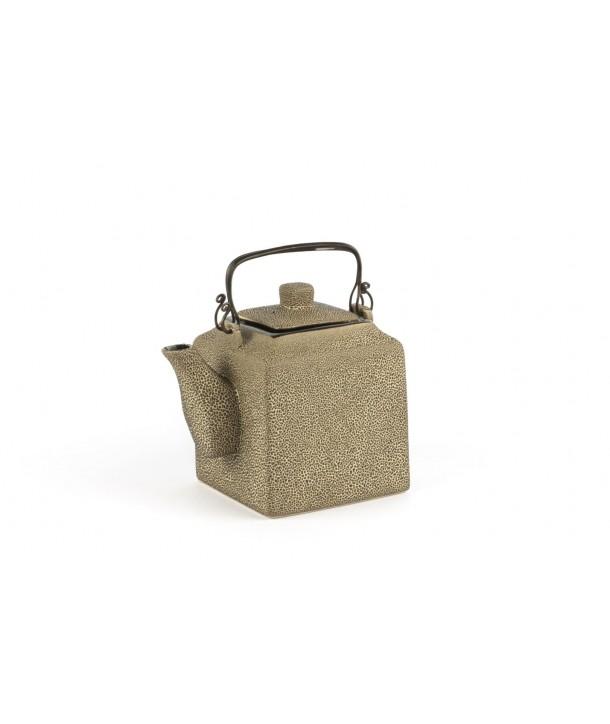 Black square teapot