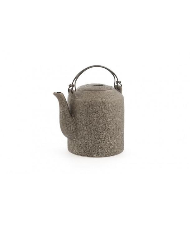 Black round high teapot