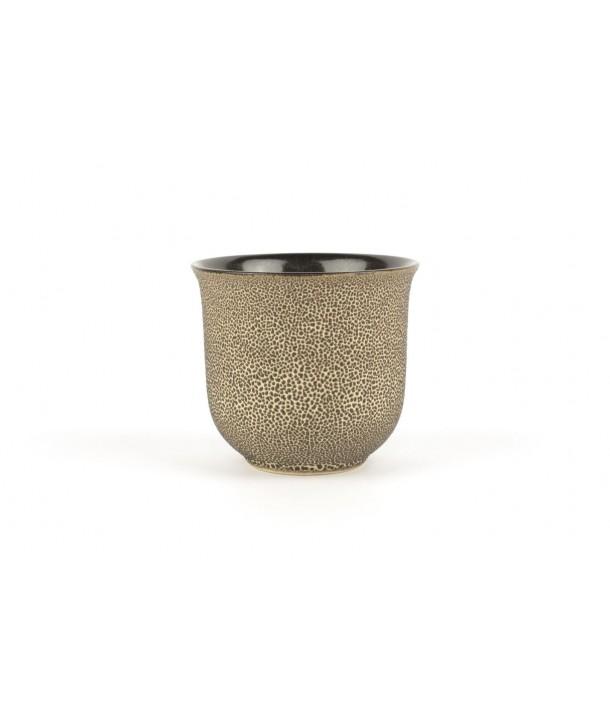 Set of 6 small black picks bowls