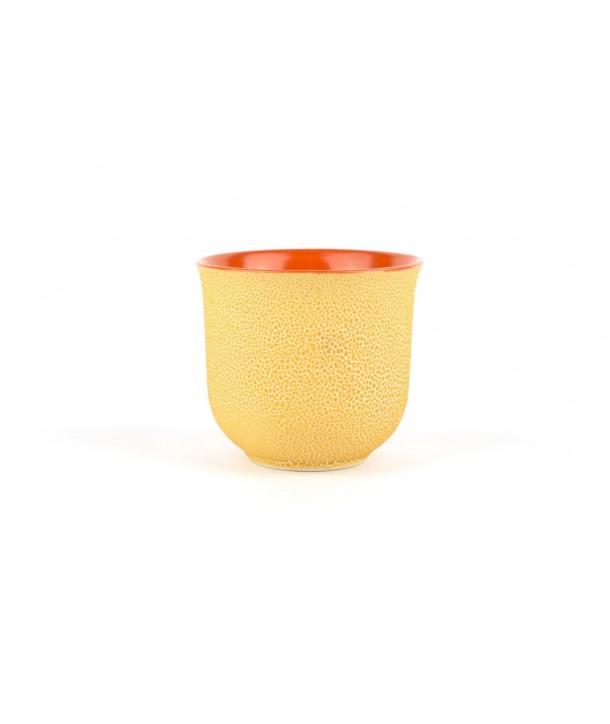 Set of 6 small orange picks bowls