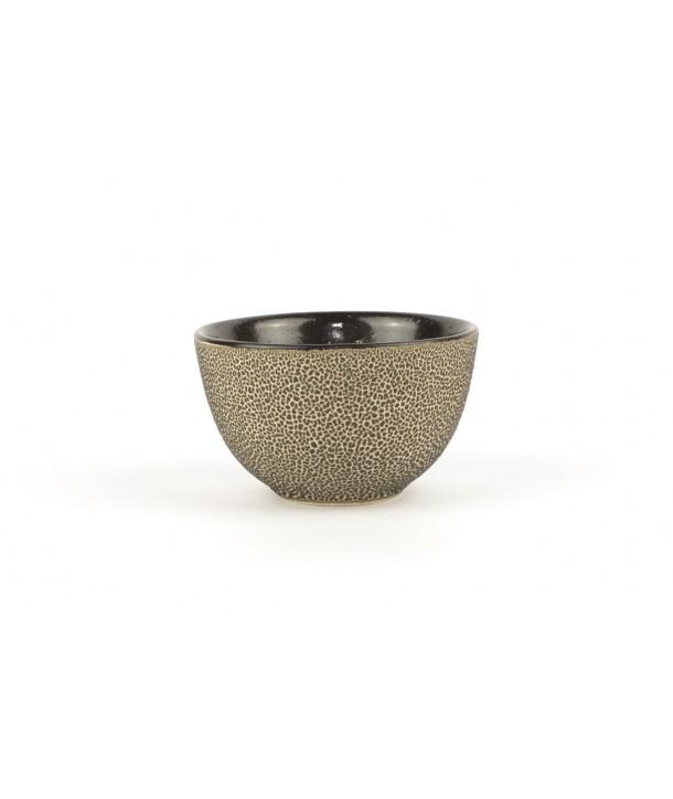 Set of 6 mini black picks bowls