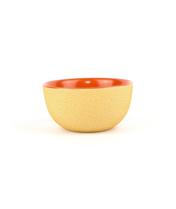 Set of 6 orange picks bowls