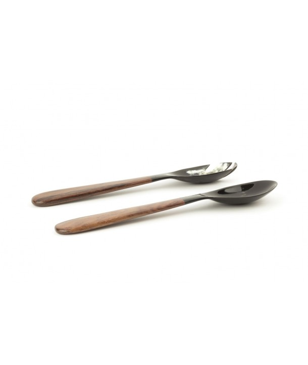 Large horn and wood cutlery