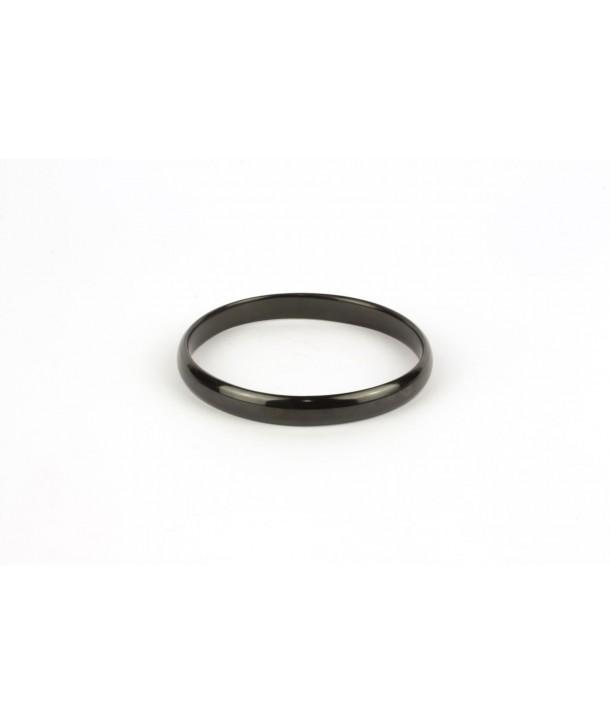 Thin bracelet in plain black horn