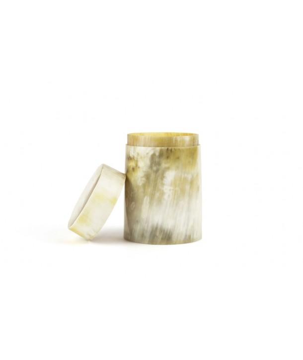 Petite boîte à thé en corne blonde