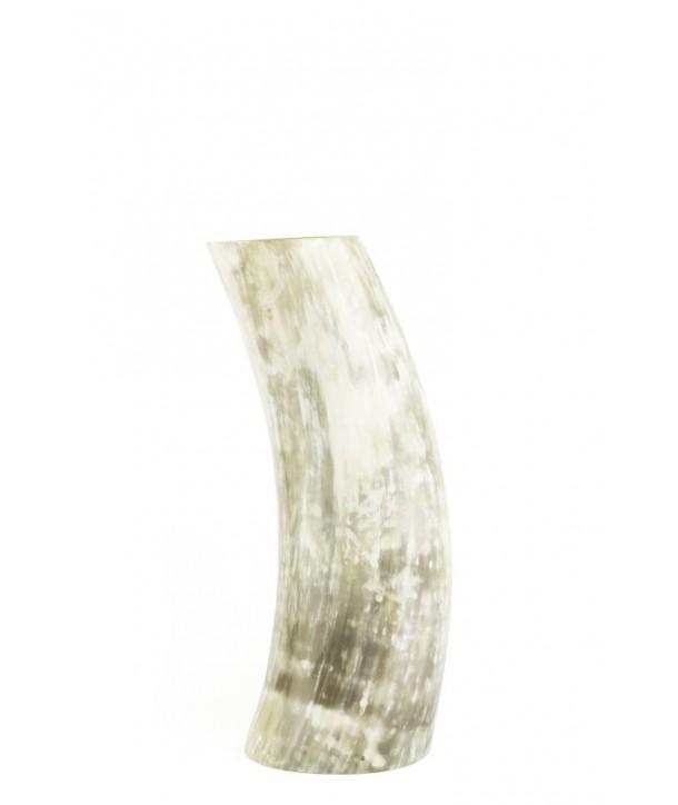 Vase en corne marbrée blonde taille M