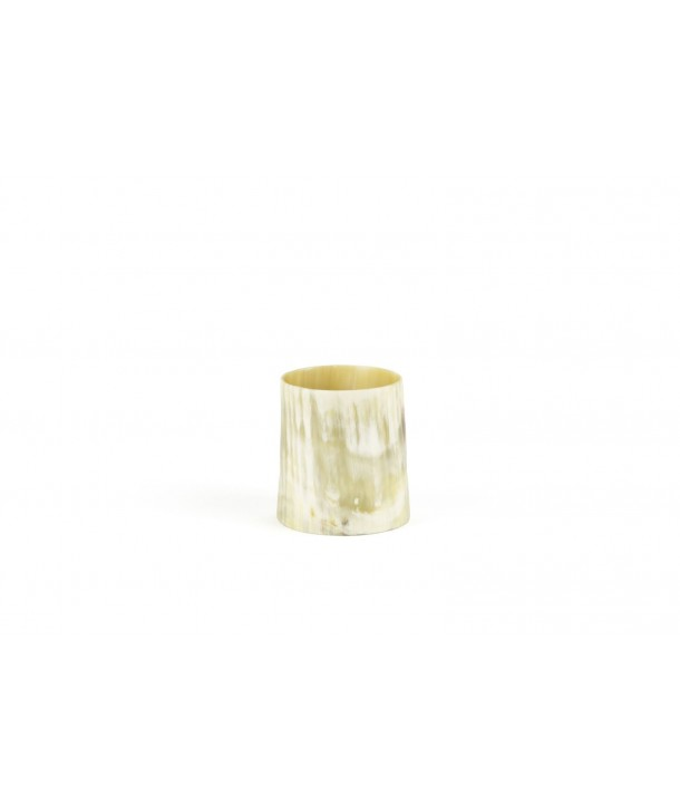 Small candle in blond horn