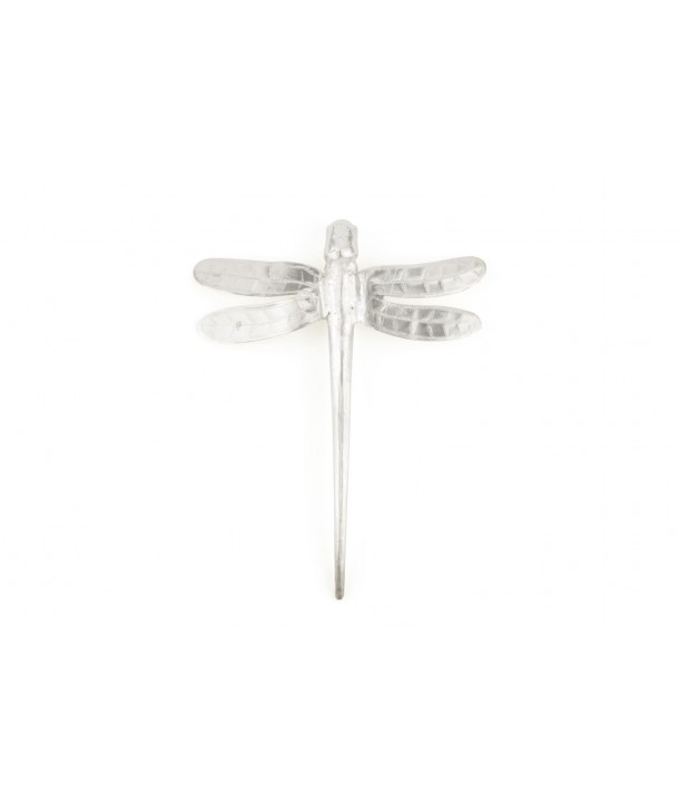Dragonfly brooch in silvery metal