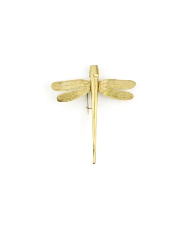 Petite broche libellule métal en laiton