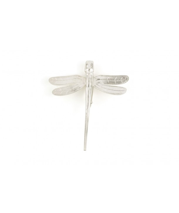 Small dragonfly brooch in silvery metal