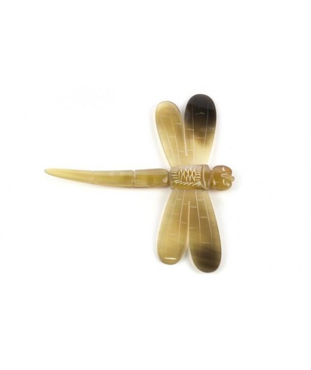 Set de 6 portes-couteaux libellules en corne blonde
