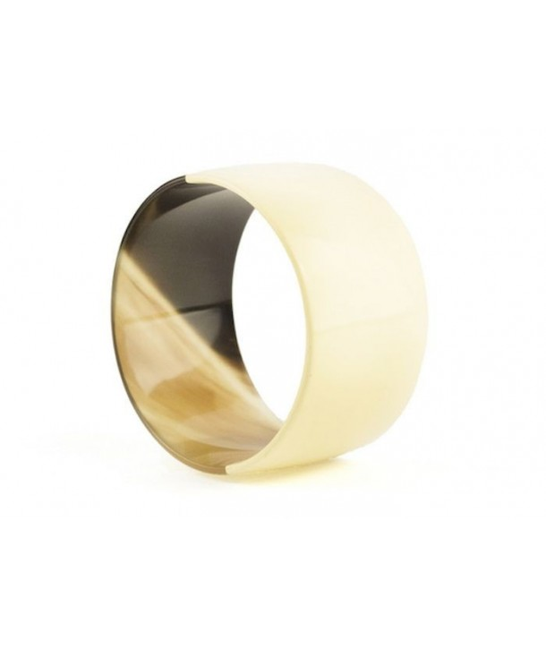 Broad ivory lacquered bracelet