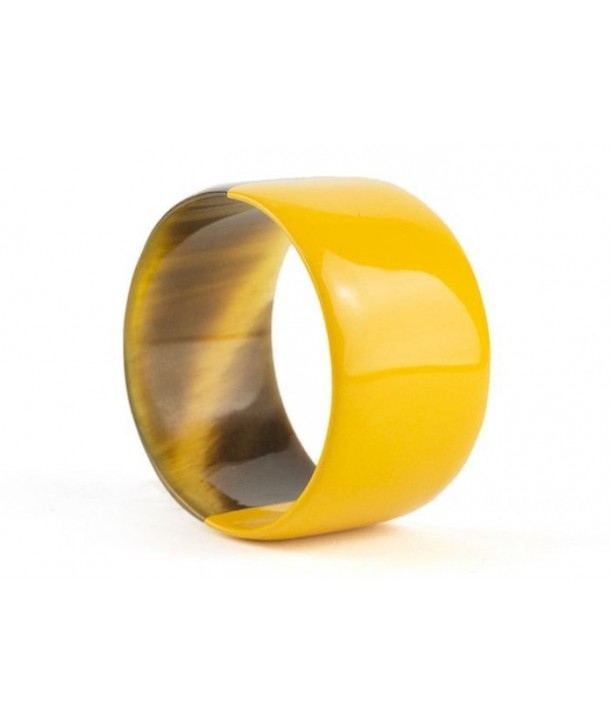 Broad yellow lacquered bracelet