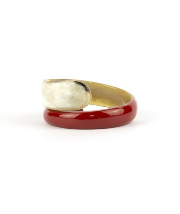Bracelet serpent laqué rouge