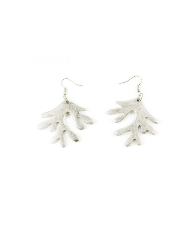 Silver lacquered coral earrings
