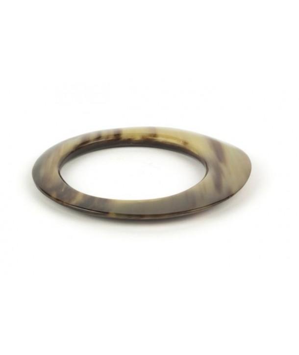 Bracelet elliptique épais en corne blonde