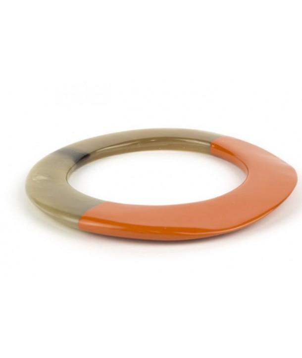 Bracelet elliptique épais et laqué orange