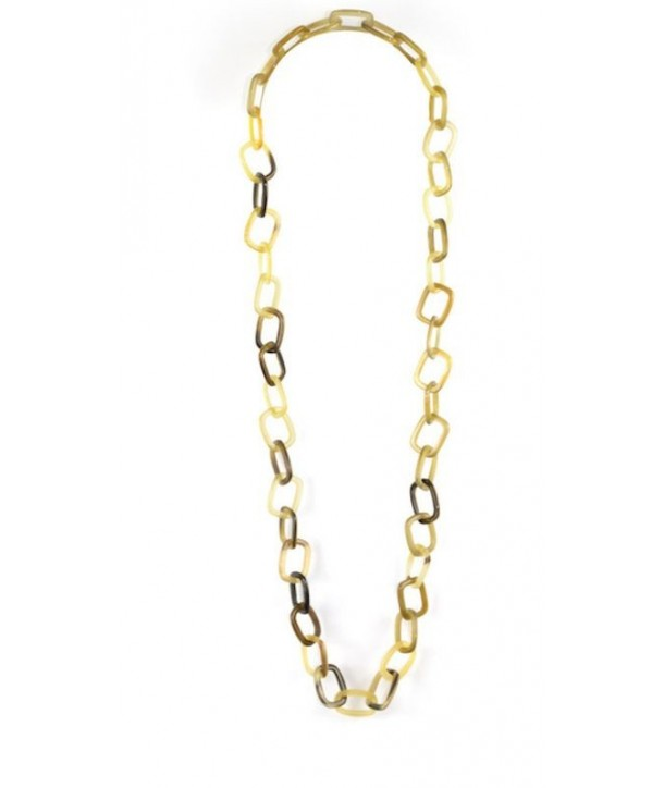 Thin rectangular rings long necklace in hoof