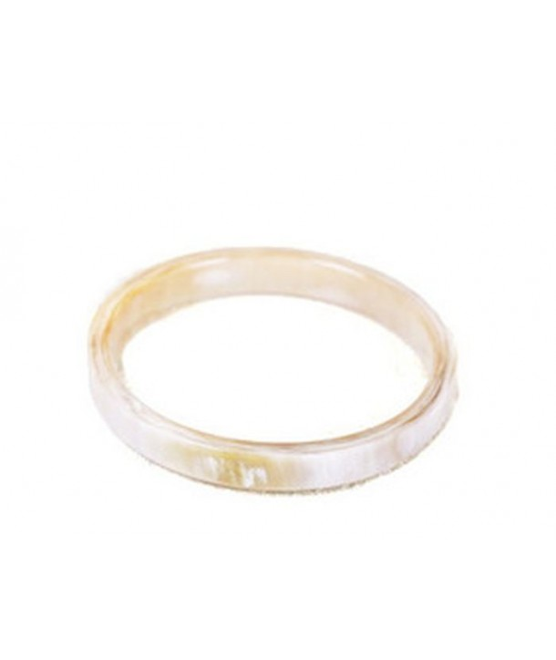 Bracelet section carrée en corne blonde