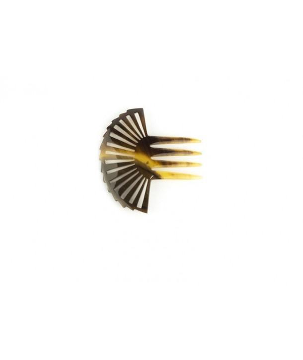 Fan-shaped comb hairpin in hoof