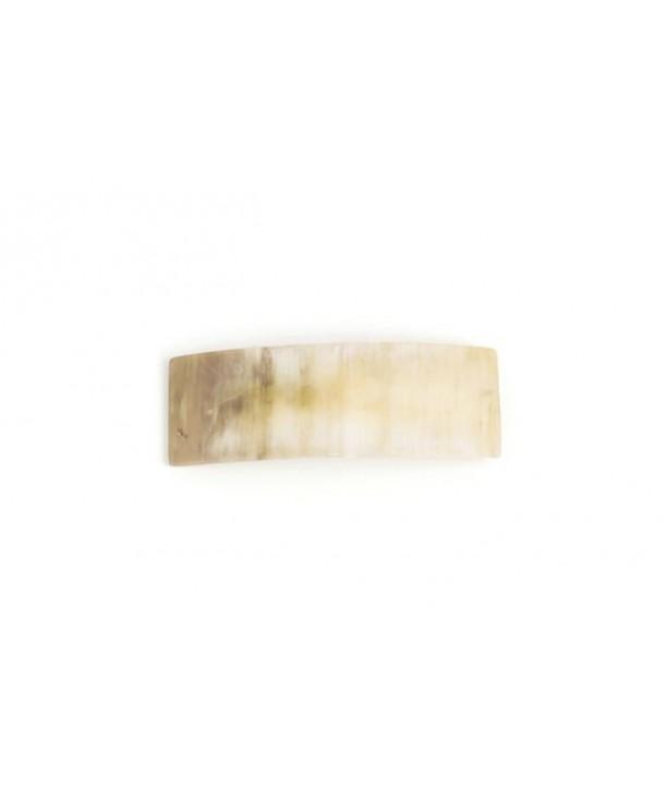 Rectangular barette in blond horn