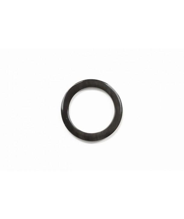 Scarf ring in black african zebu