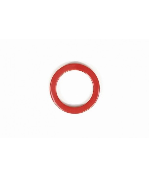 Scarf ring in horn and red lacquer