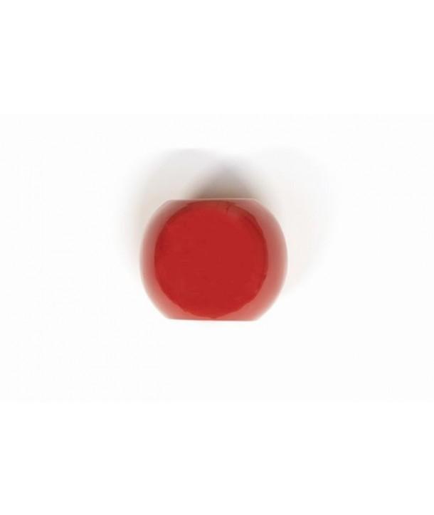 Anneau de foulard en bois et laque rouge