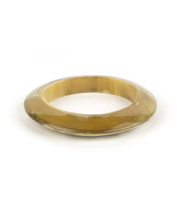 Bracelet saturne en corne en corne blonde