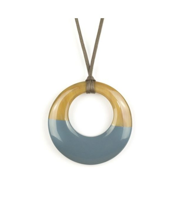 Small gray-blue lacquered irregular pendant