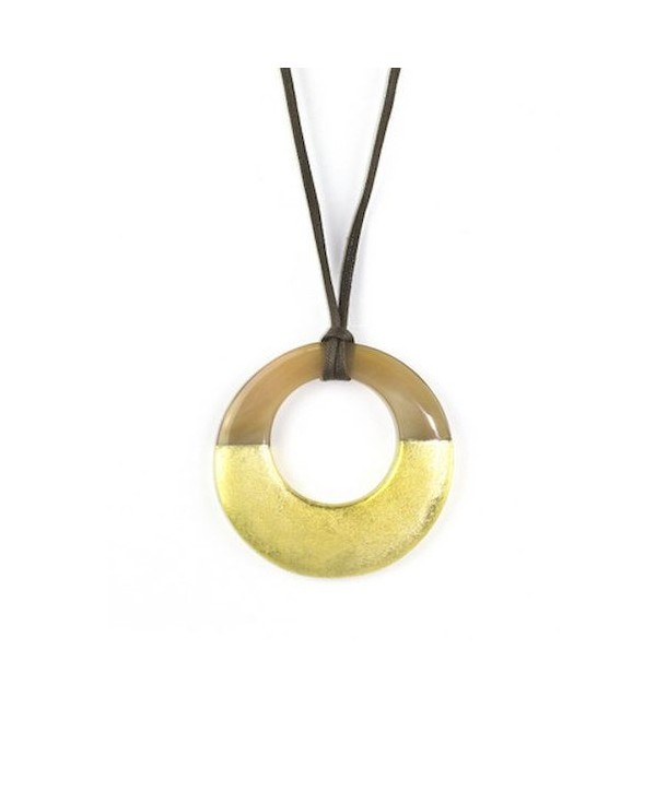 Small gold lacquered irregular pendant