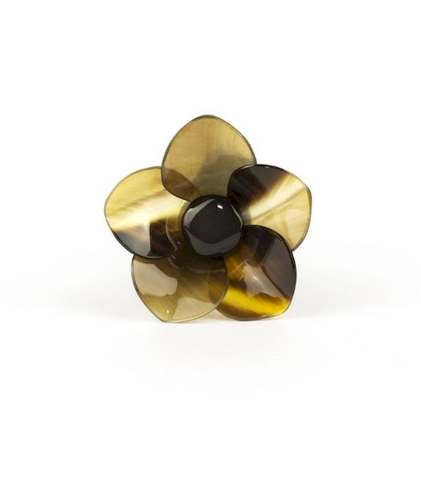 Chouchou fleur pétales en pointe en sabot