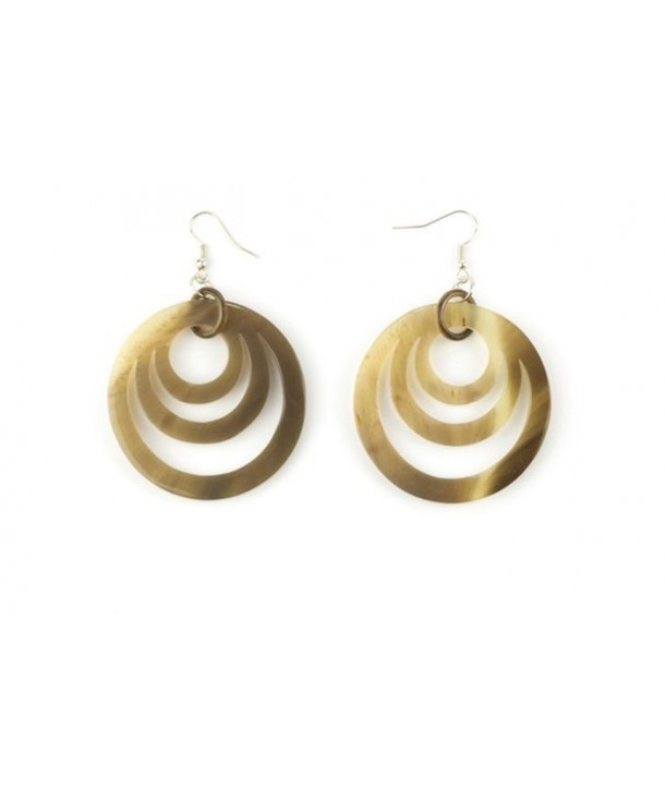 Boucles d'oreilles 3 anneaux ovales en sabot