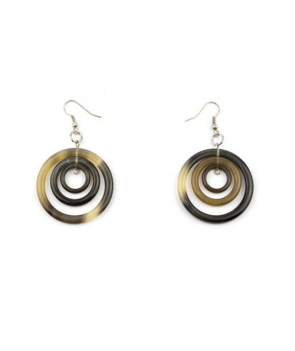 Boucles d'oreilles 3 anneaux ronds en sabot