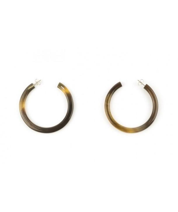 Large open ring earrings in hoof earrings