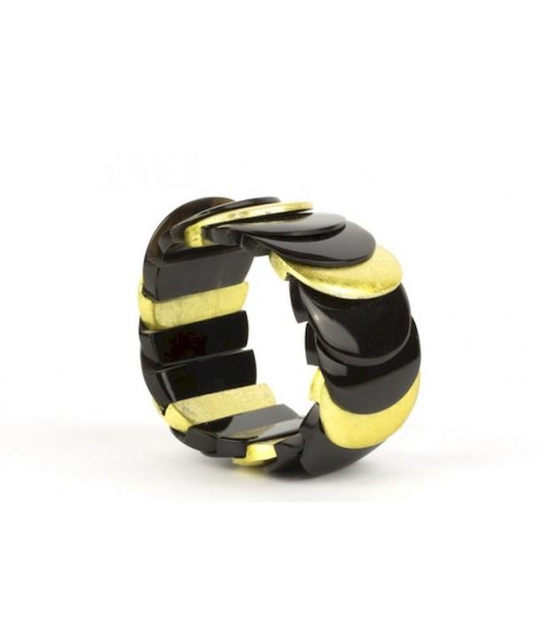 Bracelet écailles laqué or
