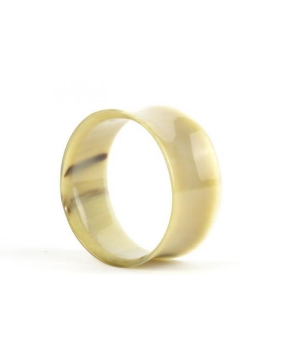 Bracelet cintré en corne blonde