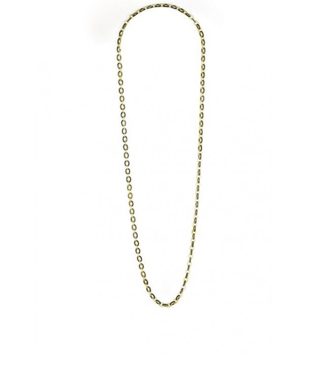 Thin mesh chain long necklace in hoof and black horn