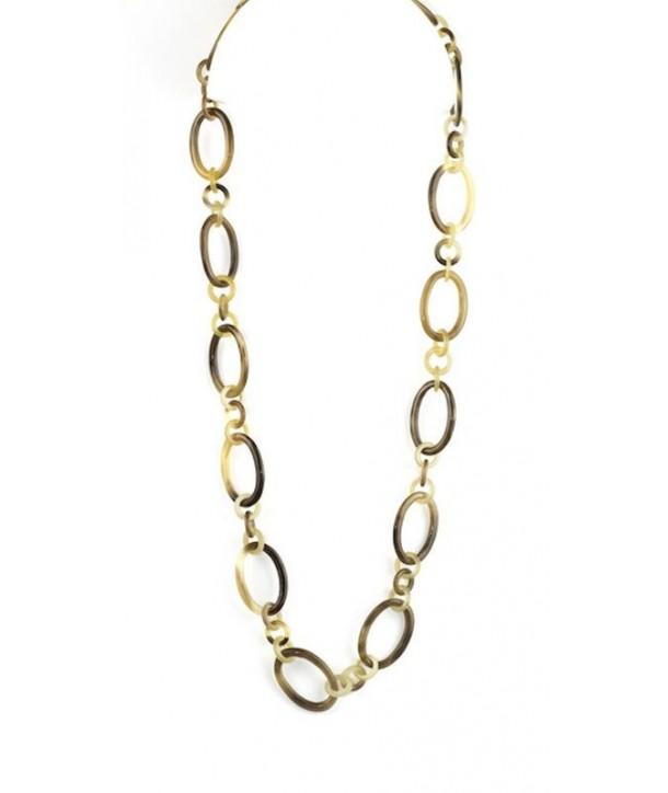 Collier anneaux ovales et petits ronds en sabot