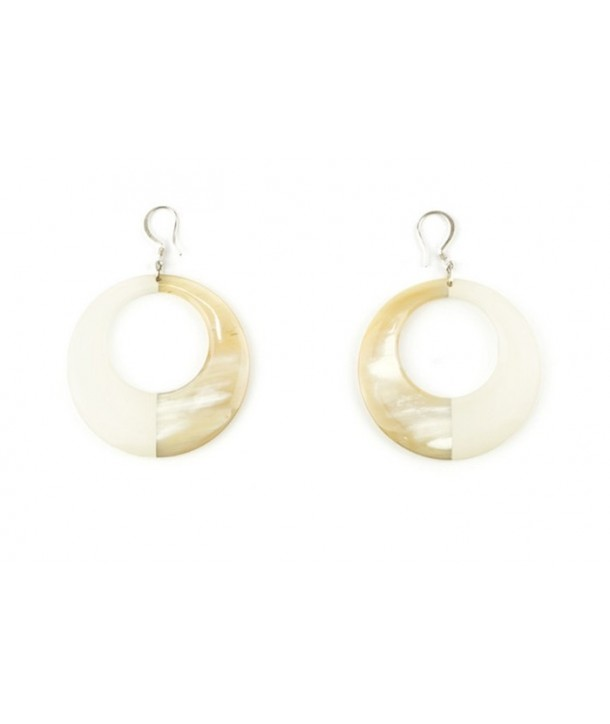 Ivory lacquered earrings