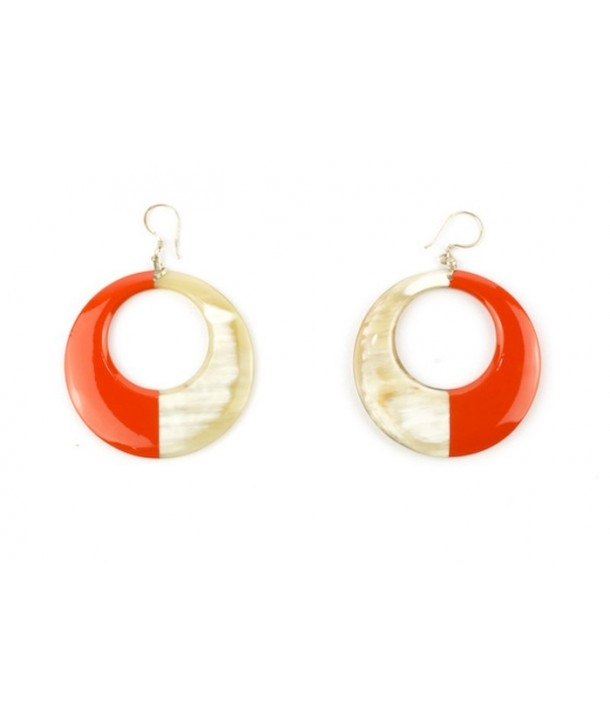 Orange lacquered earrings
