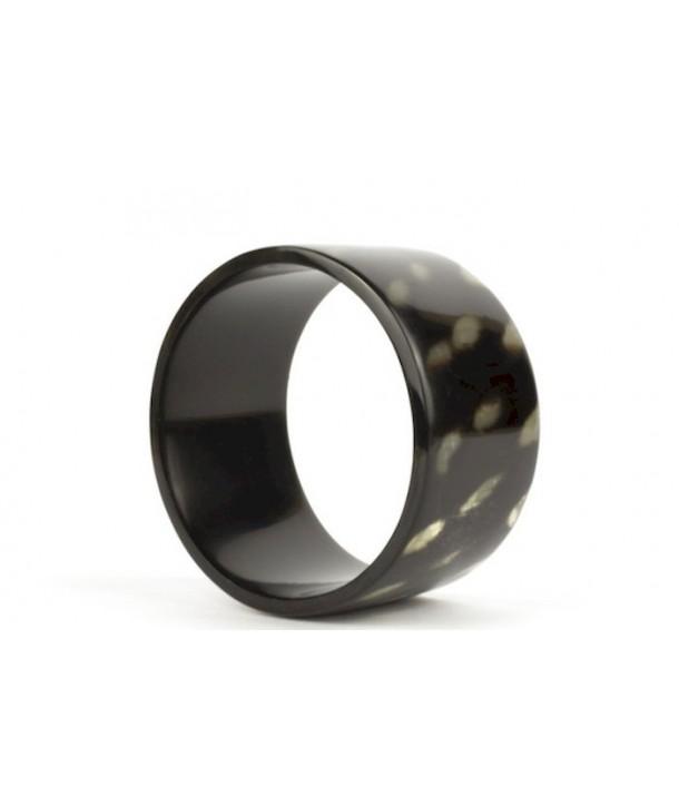 Tortoiseshell effect bracelet in horn