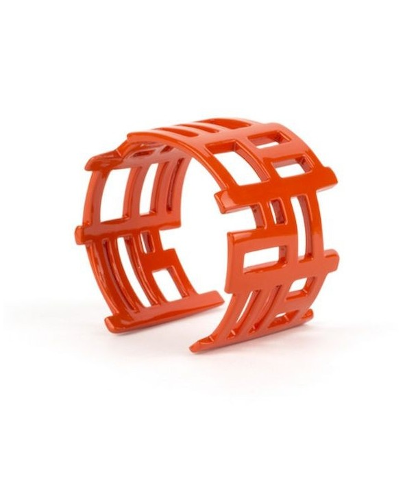 Orange lacquered song chan cuff