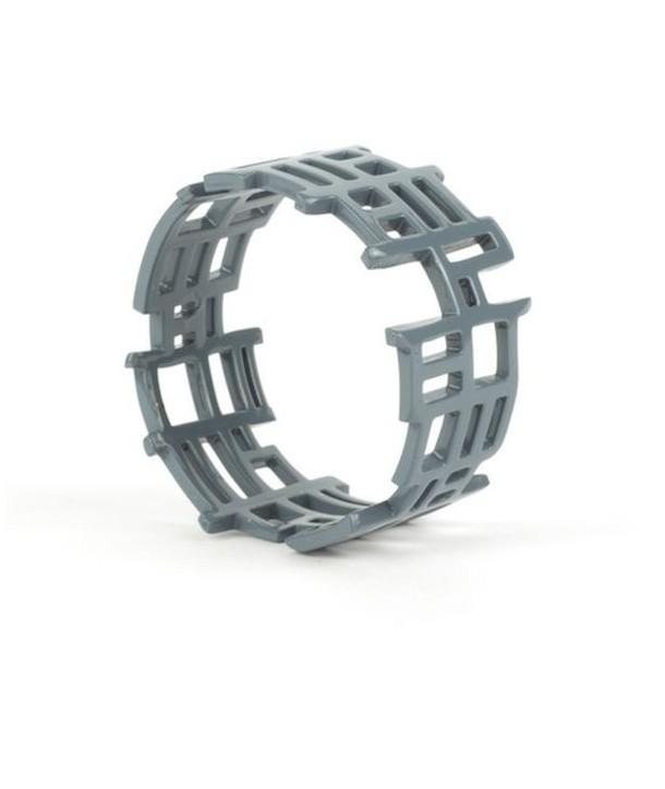 """Bracelet """"Chan song"""" laqué gris-bleu"""