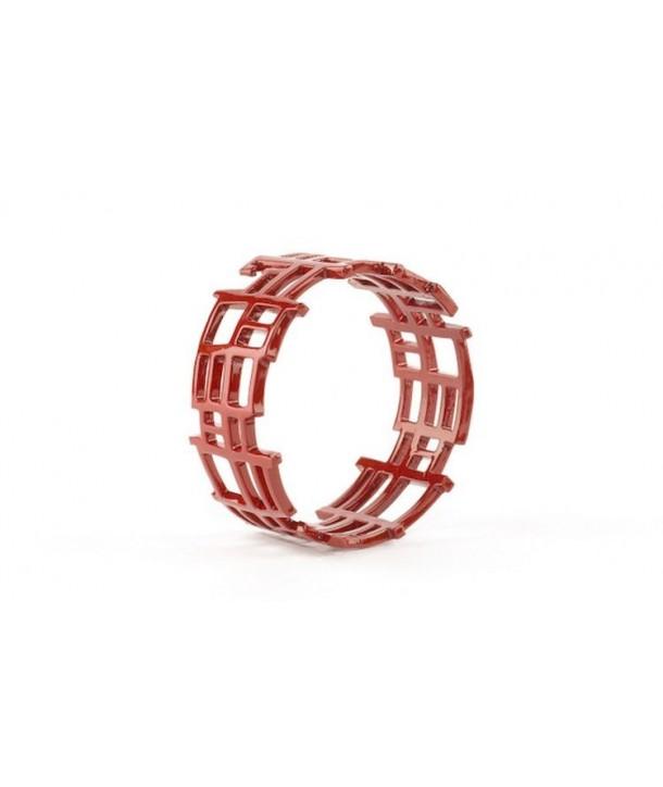 """Bracelet """"Chan song"""" laqué rouge"""