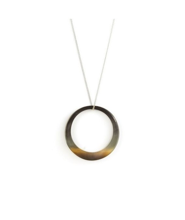 Thin ring pendant in hoof with a chain
